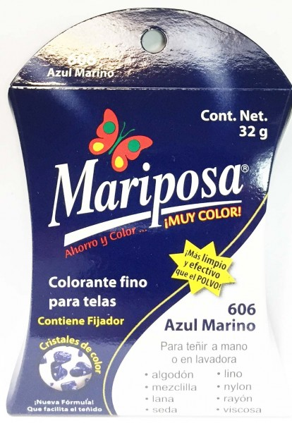 MARIPOSA CRISTALES AZUL MARINO 606 DOCENA
