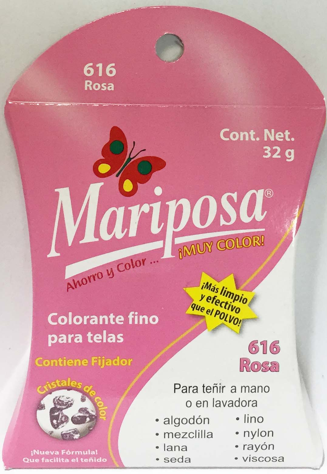 MARIPOSA CRISTALES ROSA 616 DOCENA