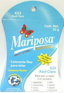 MARIPOSA CRISTALES AZUL CLARO 623 DOCENA