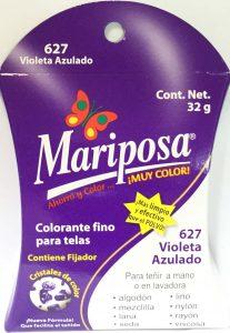MARIPOSA CRISTALES VIOLETA AZULADO 627 DOCENA