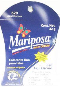 MARIPOSA CRISTALES AZUL OBSCURO 628 DOCENA