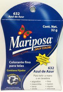 MARIPOSA CRISTALES AZUL DE AZUR 632 DOCENA
