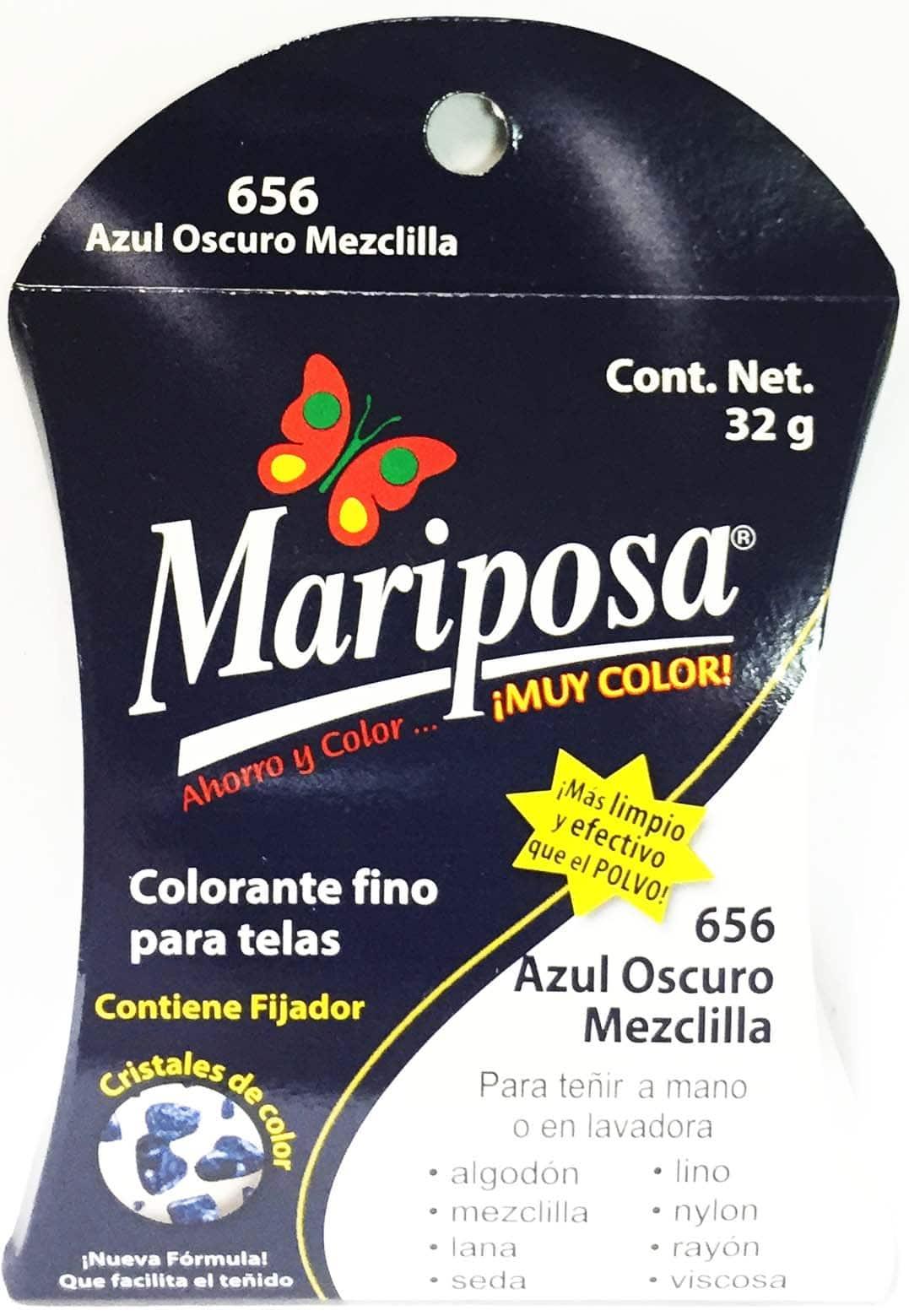 MARIPOSA CRISTALES AZUL MEZCLILLA 656 DOCENA