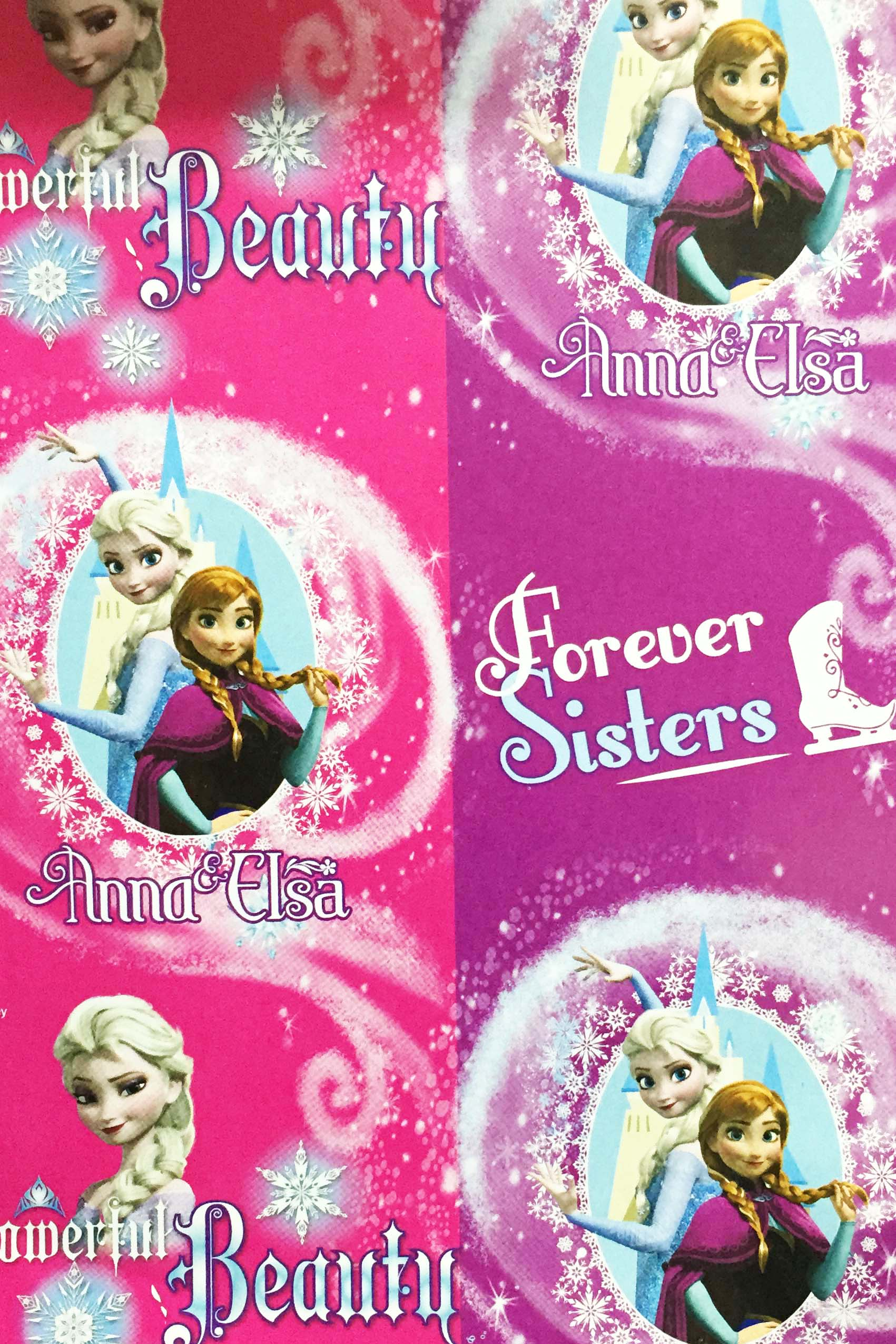 PAPEL REGALO DISNEY 25PCS FROZEN AMOR DE HERMANAS