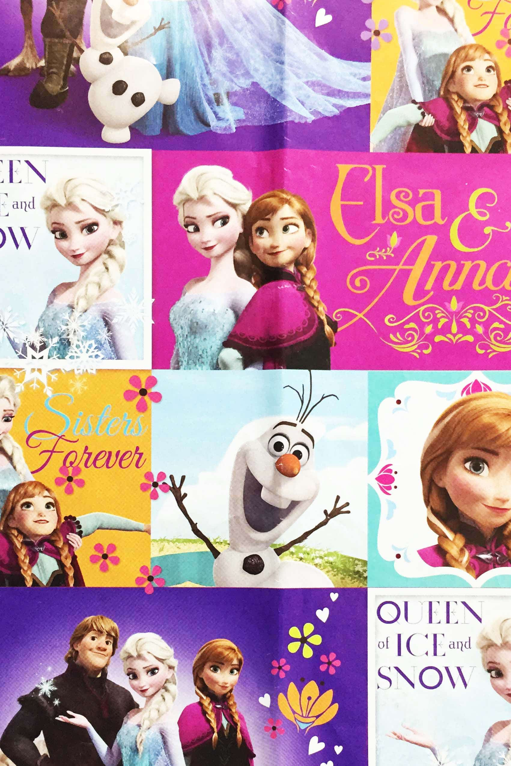 PAPEL REGALO DISNEY 25PCS FROZEN CUENTO MAGICO