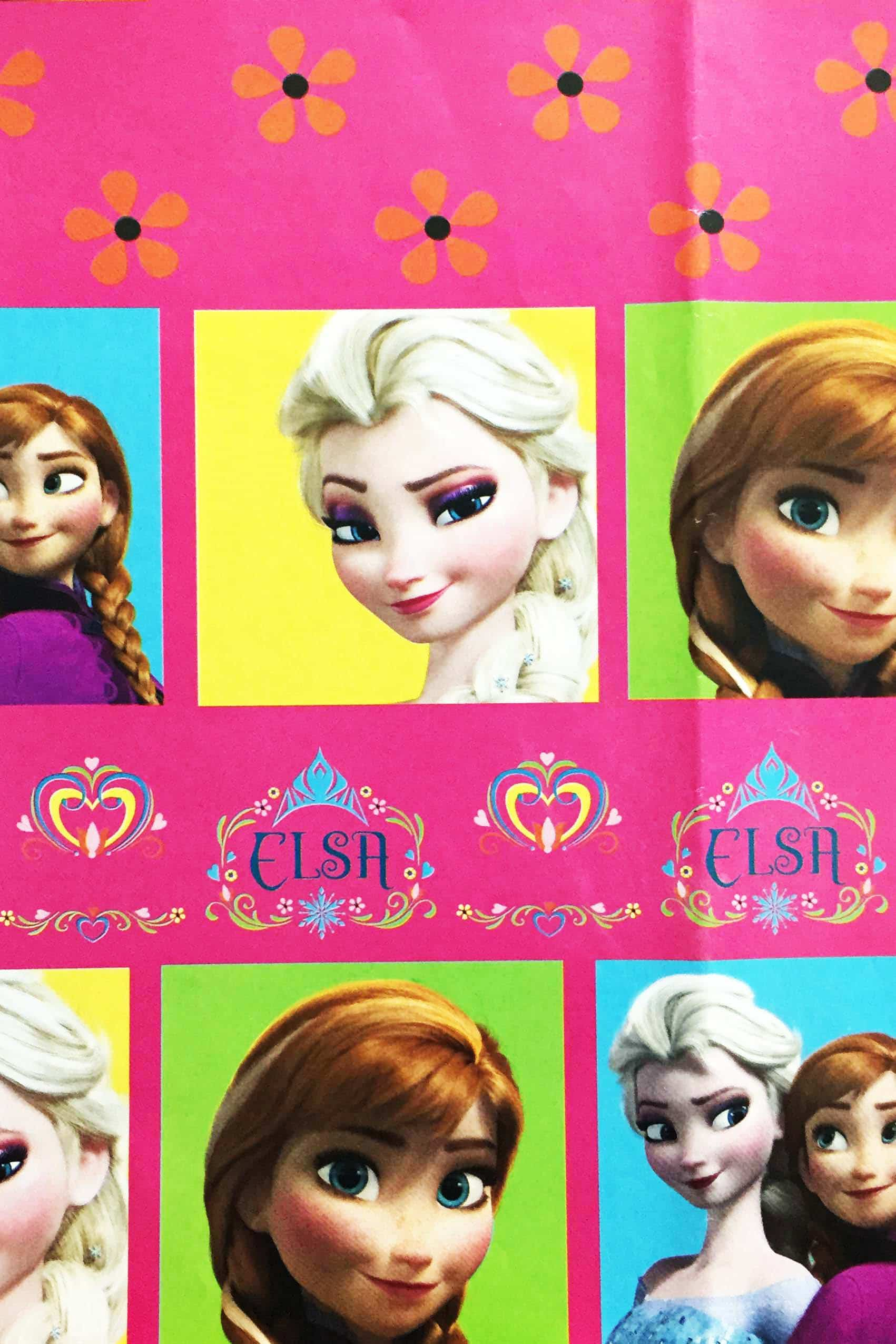 PAPEL REGALO DISNEY 25PCS FROZEN QUEENS