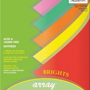 """Array 8.5x11"""" 100h Cartulina Bright DOCENA"""