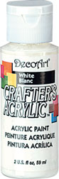 DecoArt Acrylic Paint White DOCENA