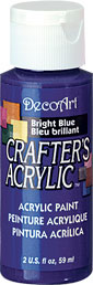 DecoArt Acrylic Paint Bright Blue DOCENA