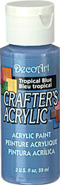 DecoArt Acrylic Paint Tropical Blue DOCENA