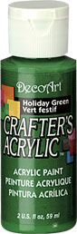 DecoArt Acrylic Paint Holiday Green DOCENA