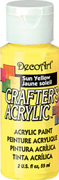 DecoArt Acrylic Paint Sun Yellow DOCENA