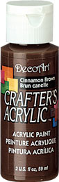 DecoArt Acrylic Paint Cinnamon Brown DOCENA