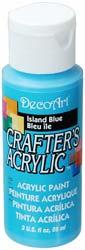 DecoArt Acrylic Paint Island Blue DOCENA