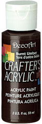 DecoArt Acrylic Paint Burnt Umber DOCENA
