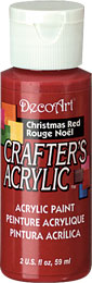 DecoArt Acrylic Paint Christmas Red DOCENA