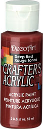 DecoArt Acrylic Paint Deep Red DOCENA