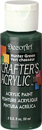 DecoArt Acrylic Paint Hunter Green DOCENA