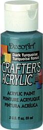 DecoArt Acrylic Paint Dark Turquoise DOCENA