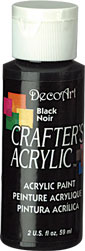 DecoArt Acrylic Paint Black DOCENA