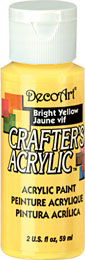 DecoArt Acrylic Paint Bright Yellow DOCENA
