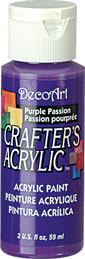 DecoArt Acrylic Paint Purple Passion DOCENA