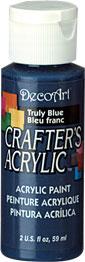 DecoArt Acrylic Paint Truly Blue DOCENA
