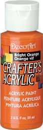 DecoArt Acrylic Paint Bright Orange DOCENA