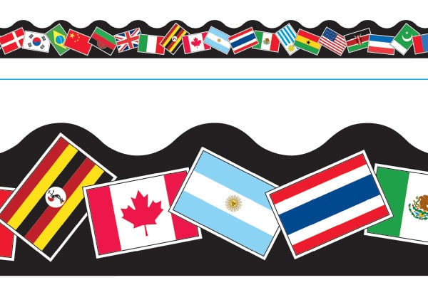 Borde de Diseno WORLD FLAGS