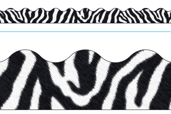 Borde de Diseno ZEBRA WHITE