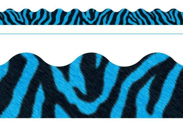 Borde de Diseno ZEBRA BLUE