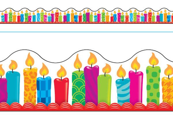 Borde de Diseno BIRTHDAY CANDLES