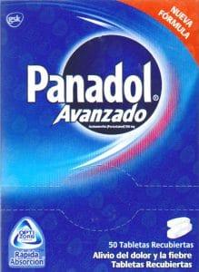PANADOL ADVANCE CAJETA 50 TABLETAS