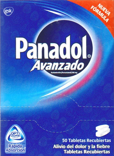 PANADOL ADVANCE CAJETA 50 TABLETAS