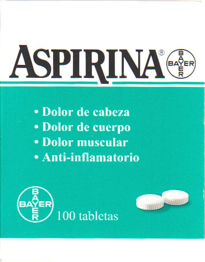 ASPIRINA 500mg CAJETA 100 TABLETAS