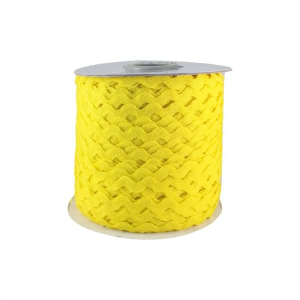Zig zag color liso 5mm 100mts AMARILLO