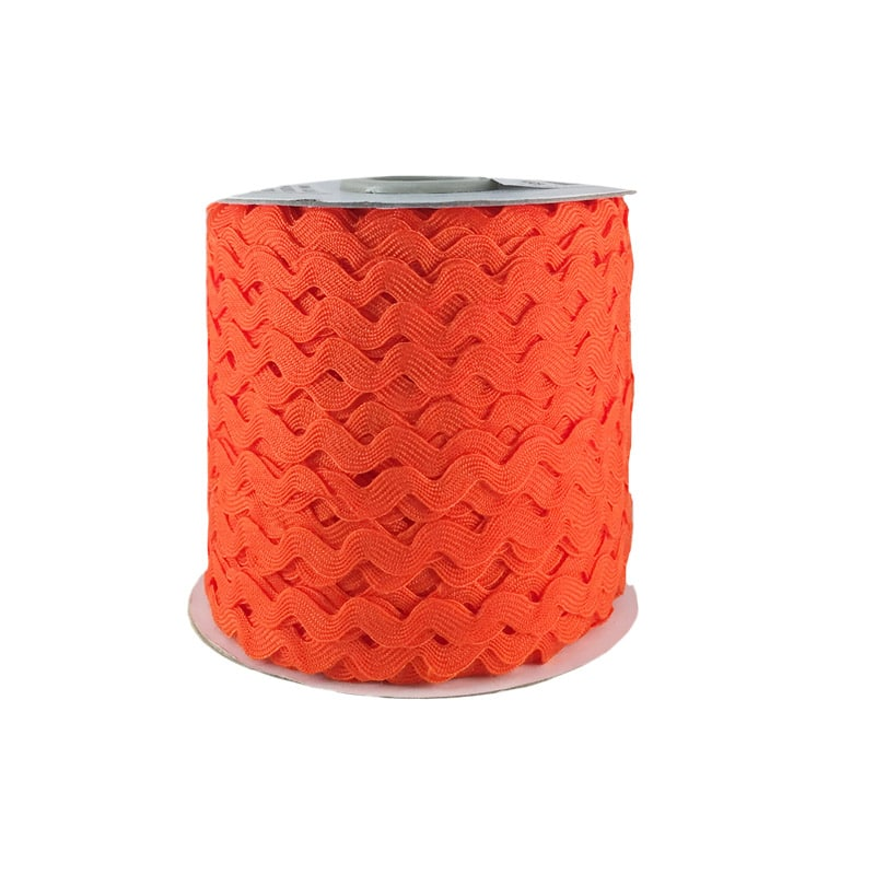 Zig zag color liso 5mm 100mts NARANJA