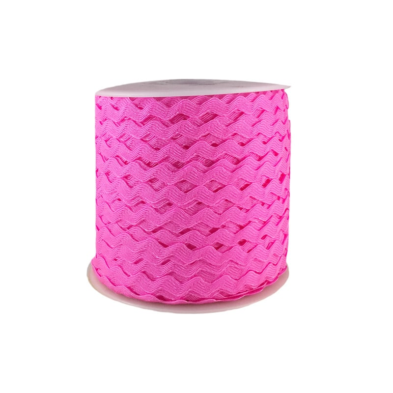 Zig zag color liso 5mm 100mts ROSADO
