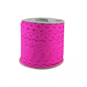 Zig zag color liso 5mm 100mts FUSHIA