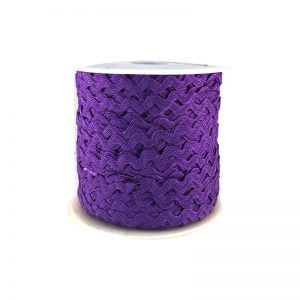 Zig zag color liso 5mm 100mts MORADO