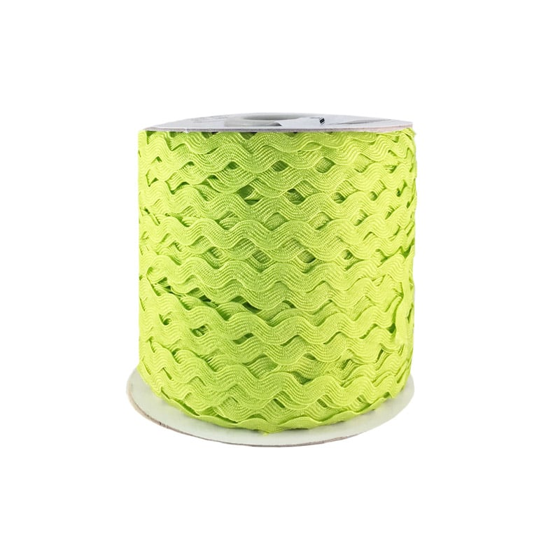 Zig zag color liso 5mm 100mts VERDE CANA