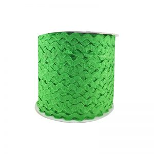 Zig zag color liso 5mm 100mts VERDE CLARO