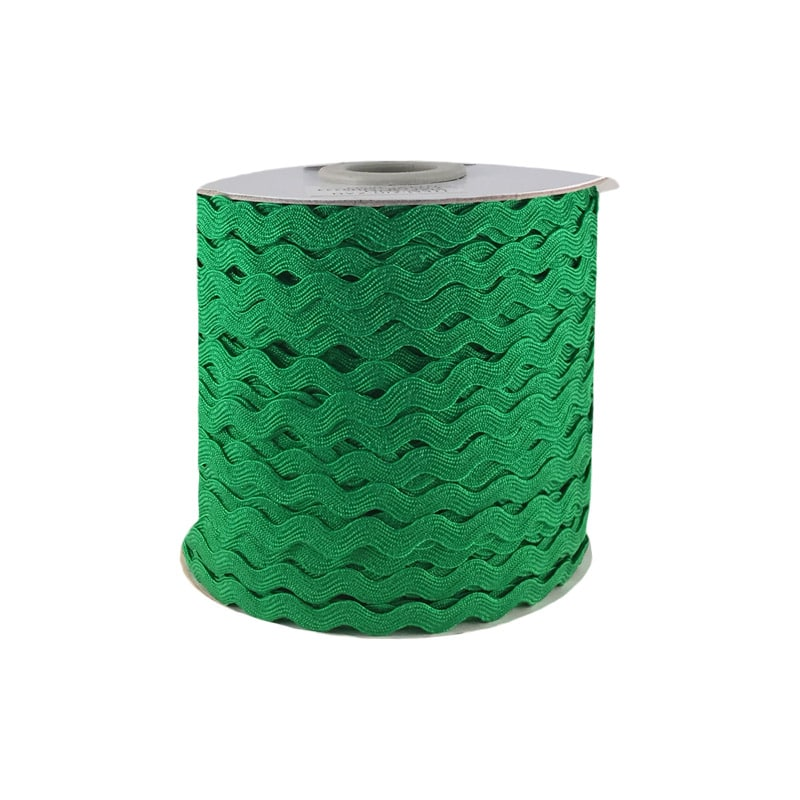 Zig zag color liso 5mm 100mts VERDE