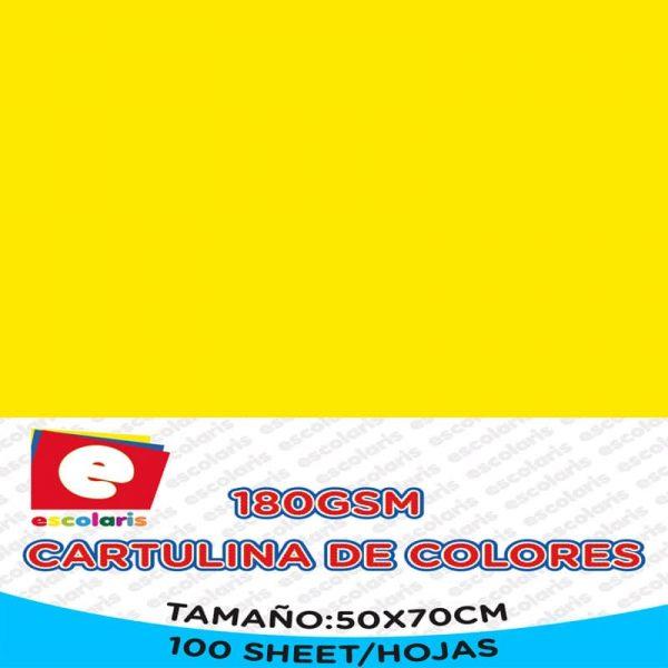 Cartulina ESCOLARIS 50X70CM 100hojas AMARILLA