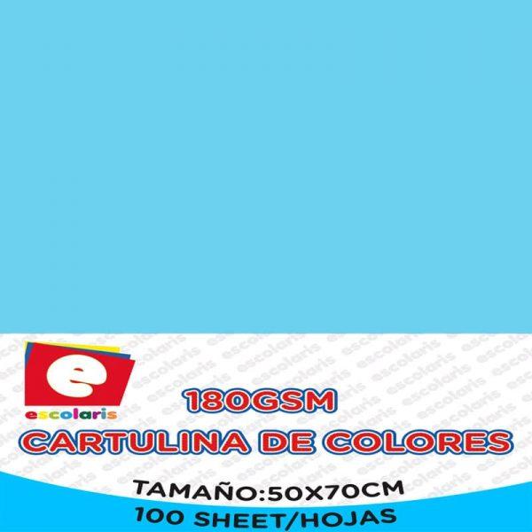 Cartulina ESCOLARIS 50X70CM 100hojas CELESTE