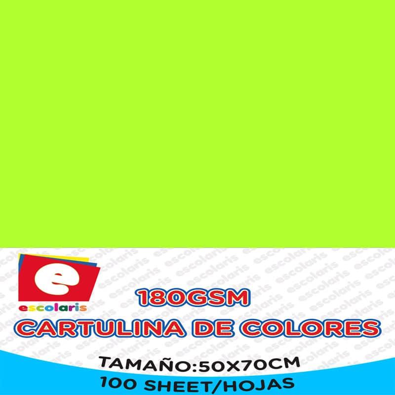 Cartulina ESCOLARIS 50X70CM 100hojas VERDE CANA