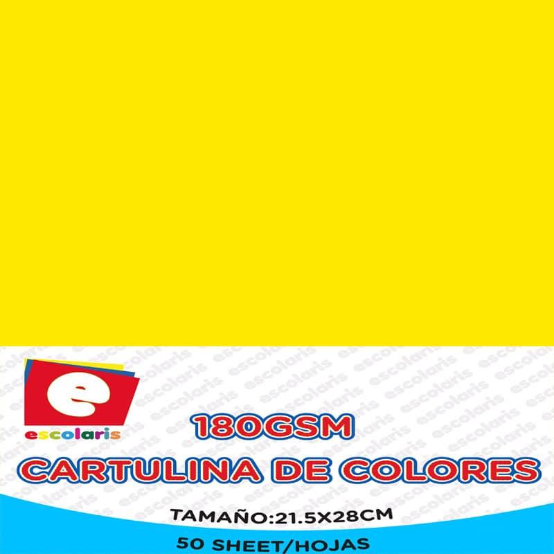 Cartulina ESCOLARIS 8.5x11 50hojas AMARILLA