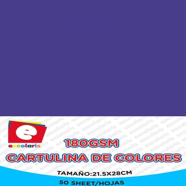 Cartulina ESCOLARIS 8.5x11 50hojas AZUL