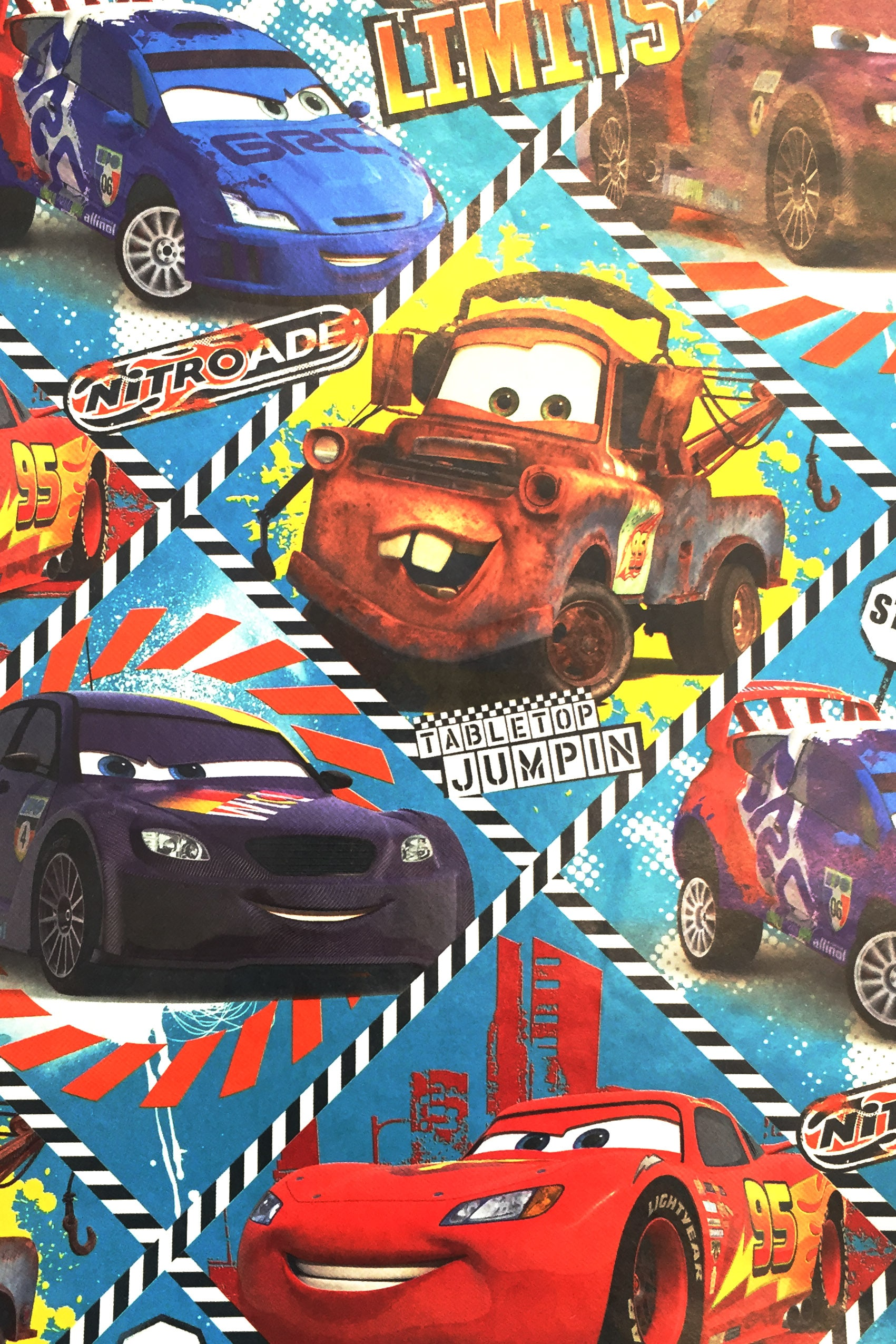 PAPEL REGALO DISNEY 25PCS CARS CIRCUITO