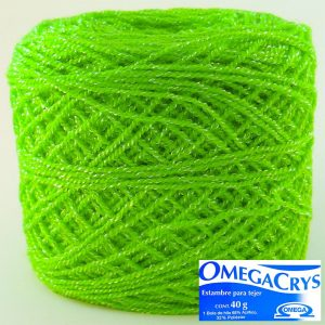 HILO OMEGACRYS 12PZ  40g  C288 VERDE CANA